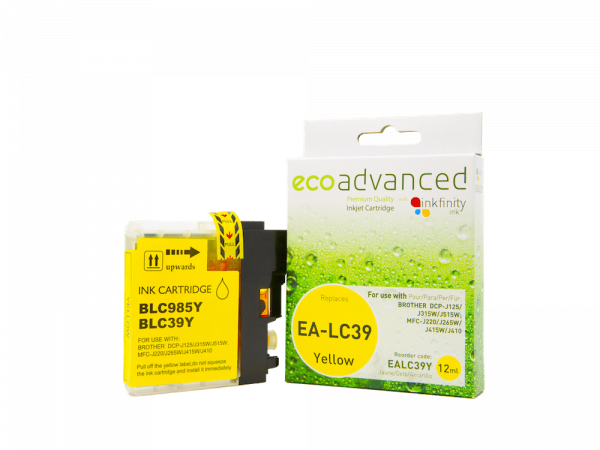 EcoAdvanced Brother LC39 Yellow