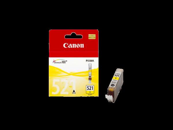 Genuine Canon CLI521 Yellow Ink Cart