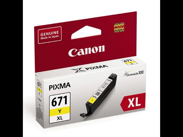Genuine Canon CLI671 XL Yellow