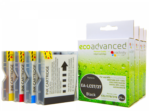 EcoAdvanced Brother LC37/57  B/C/M/Y  (4 Pack)