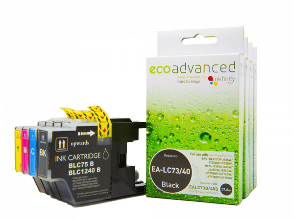 EcoAdvanced Brother LC40/73     B/C/M/Y Value Pack