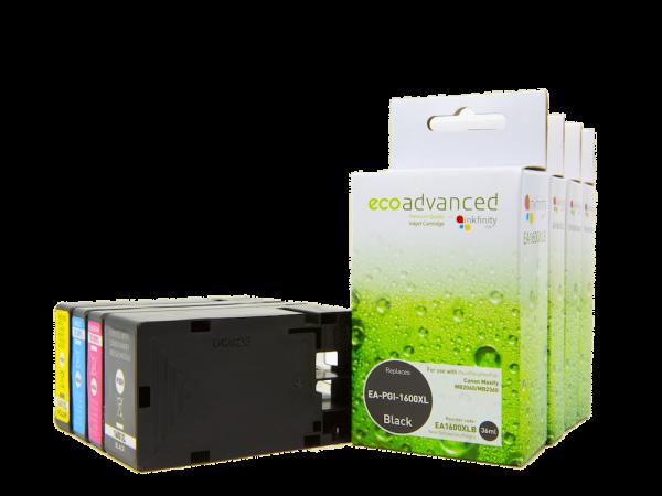 EcoAdvanced Canon PGI1600 High Capacity Rainbow Pack (4 inks)