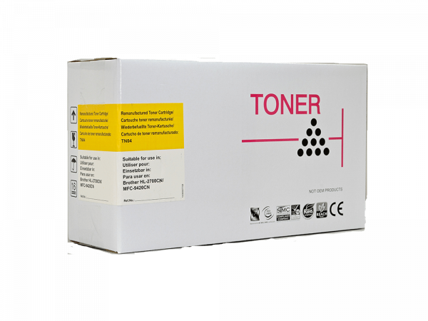 Remanufactured Brother TN04 Yellow Toner Cartridge