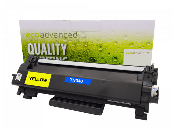 EcoAdvanced Brother TN340 Yellow Toner Cartridge