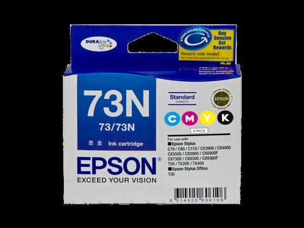 Genuine Epson 73N Value Pack – 4 inks