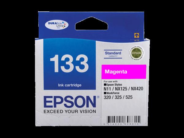 Genuine Epson 133 Magenta Ink Cartridge