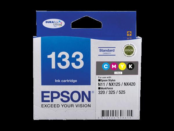 Genuine Epson 133 Value Pack – 4 Inks