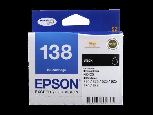 Genuine Epson 138 Black