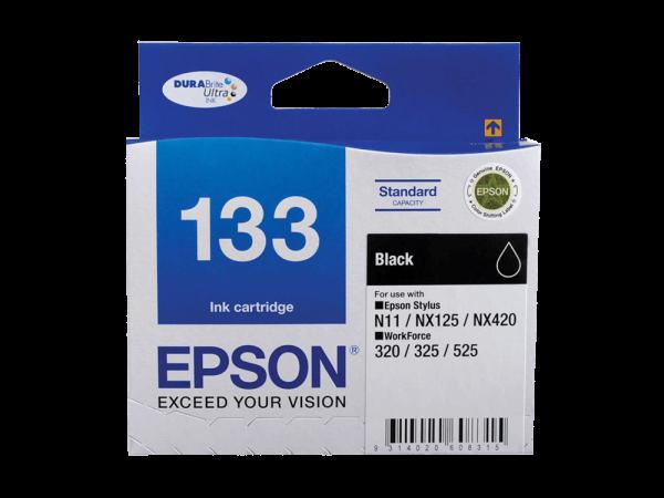 Genuine Epson 133 Black Ink Cartridge