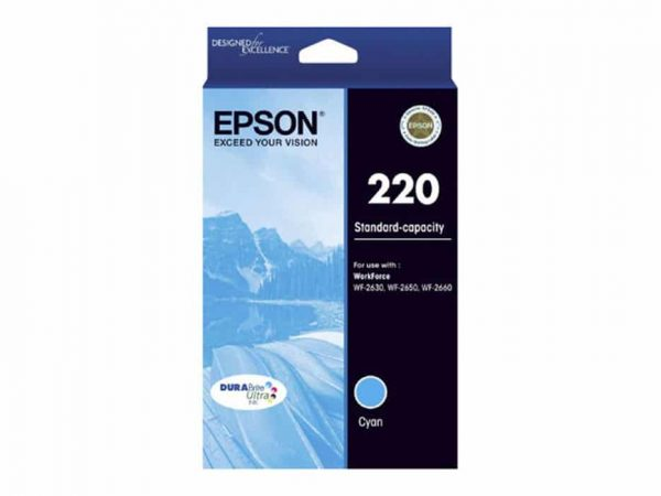 Genuine Epson 220 Std Cyan