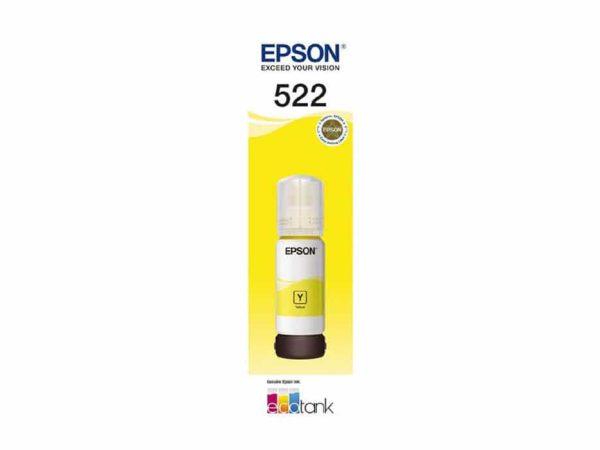 Genuine Epson 522 Yellow Ink Bottle