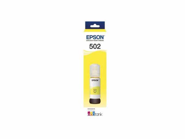 Genuine Epson T502 Yellow Ink Bottle