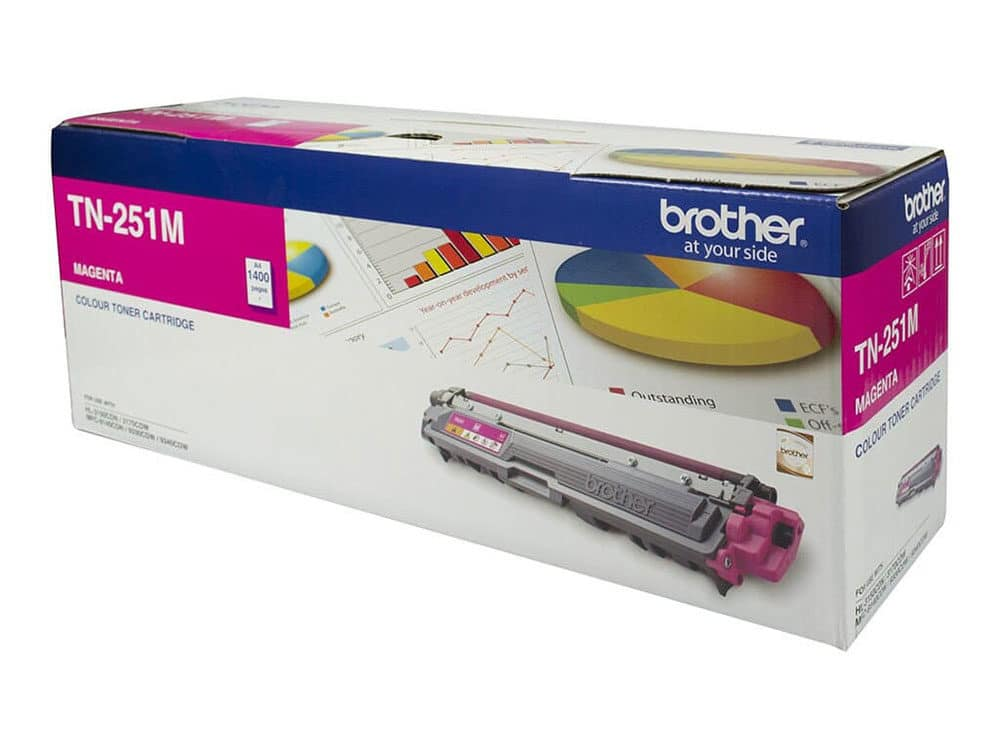 Genuine Brother TN255M High Capacity Magenta Toner