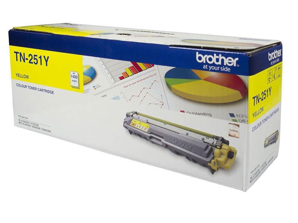 Genuine Brother TN255Y High Capacity Yellow Toner