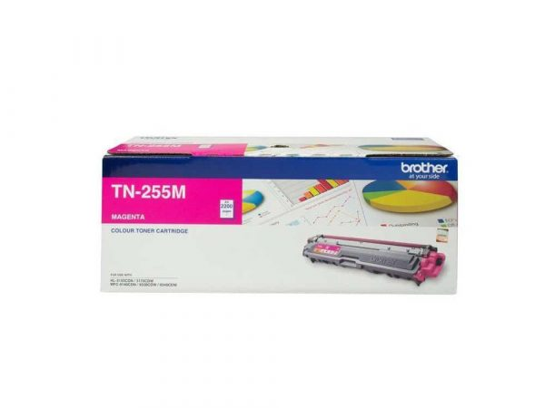 Genuine Brother TN255 High Capacity Magenta Toner