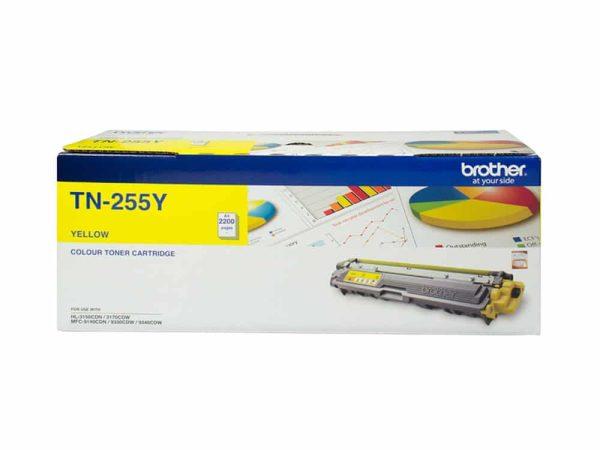 Genuine Brother TN255 High Capacity Yellow Toner