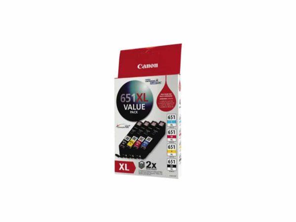 Genuine Canon CLI-651XLVP Hi Capacity Value Pack Bk/C/M/Y