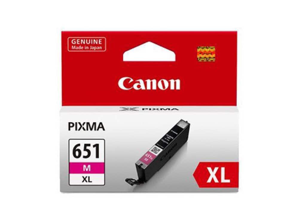 Genuine Canon CLI651XLM Hi Capacity Magenta Ink