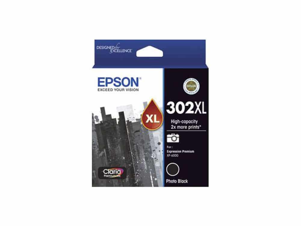 Genuine Epson 302XL High Capacity Black Ink Cartridge