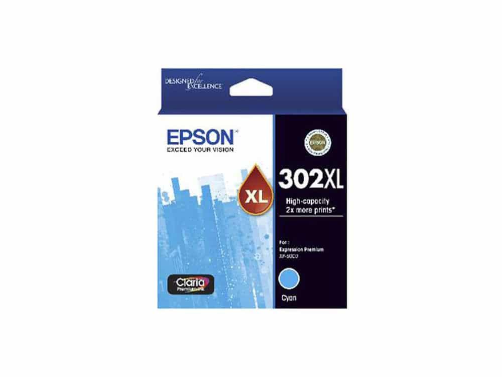 Genuine Epson 302XL High Capacity Cyan Ink Cartridge