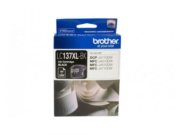Genuine Brother LC137XLBK Hi Yield Black Ink Cartridge