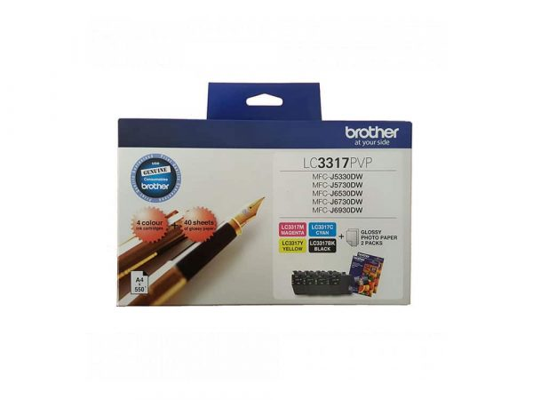 Genuine Brother LC3317PVP Photo Value Pack