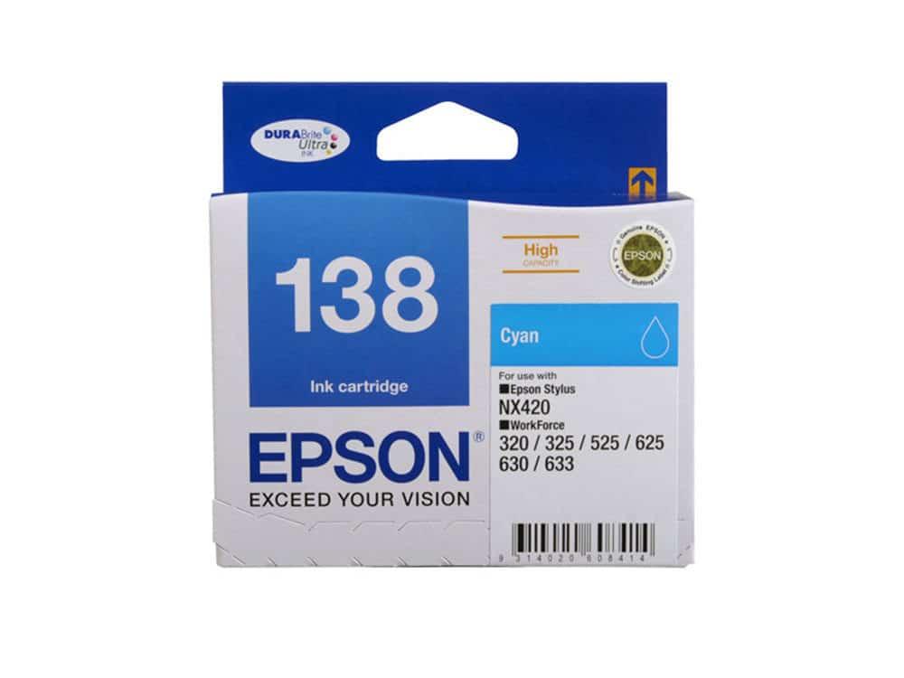Genuine Epson 138 Cyan Ink Cartridge
