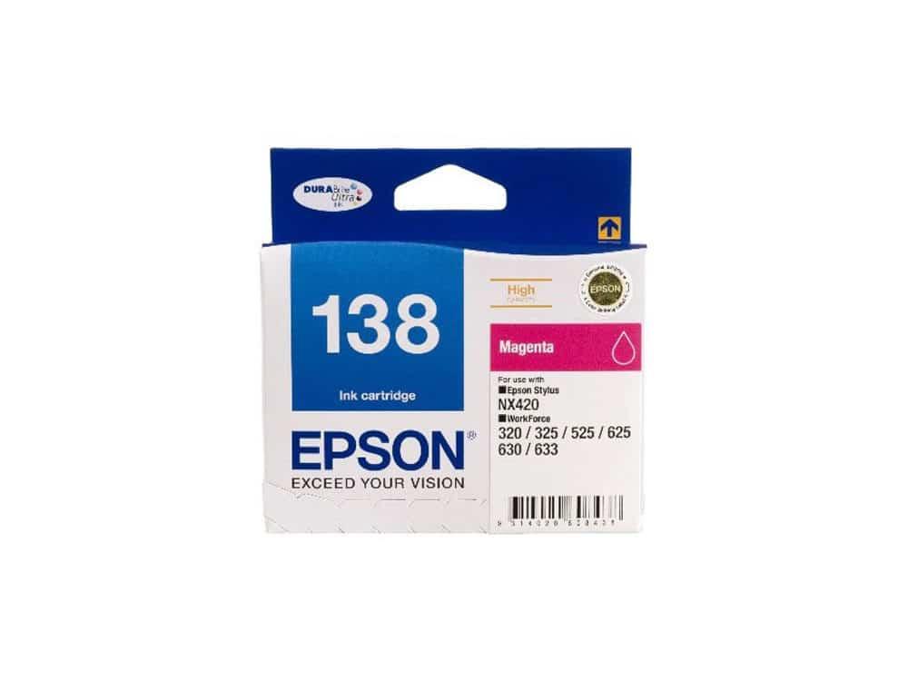 Genuine Epson 138 Magenta Ink Cartridge