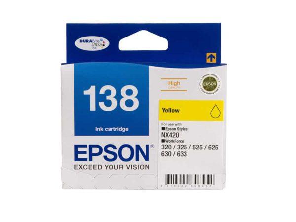 Genuine Epson 138 Yellow