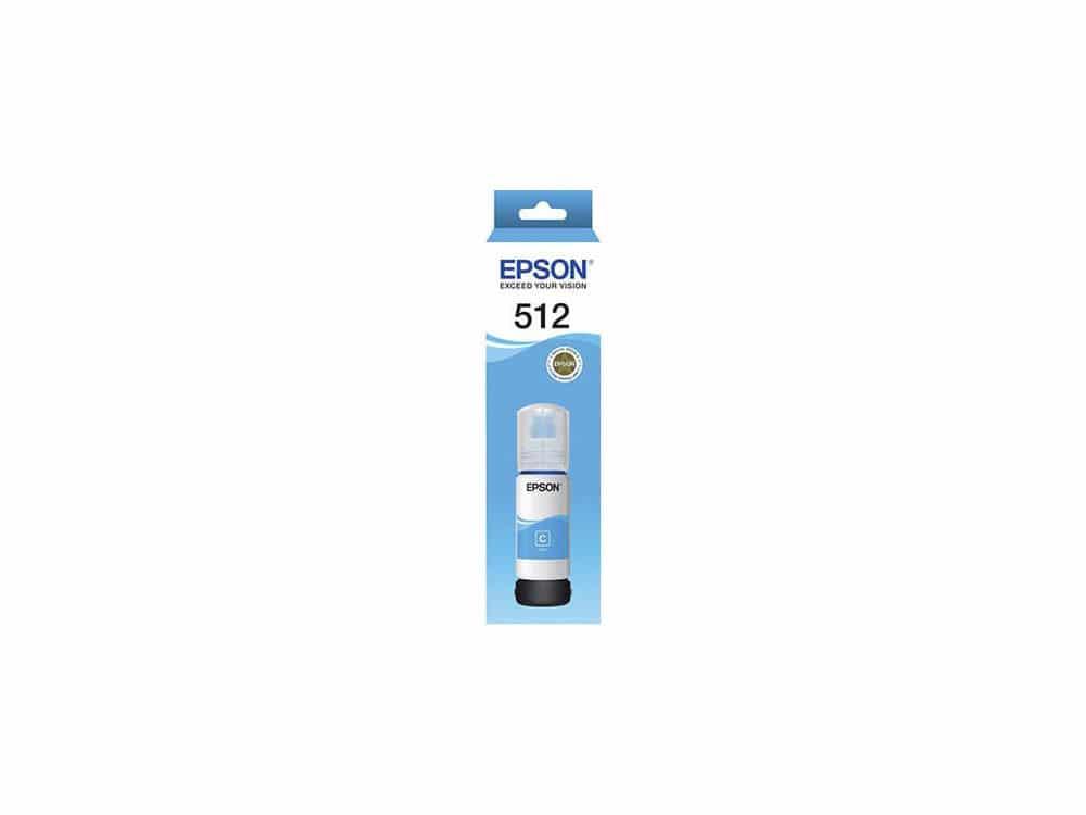 Genuine Epson T512 - Cyan Ink Bottle