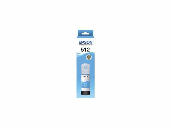 Genuine Epson T512 – Cyan Ink Bottle