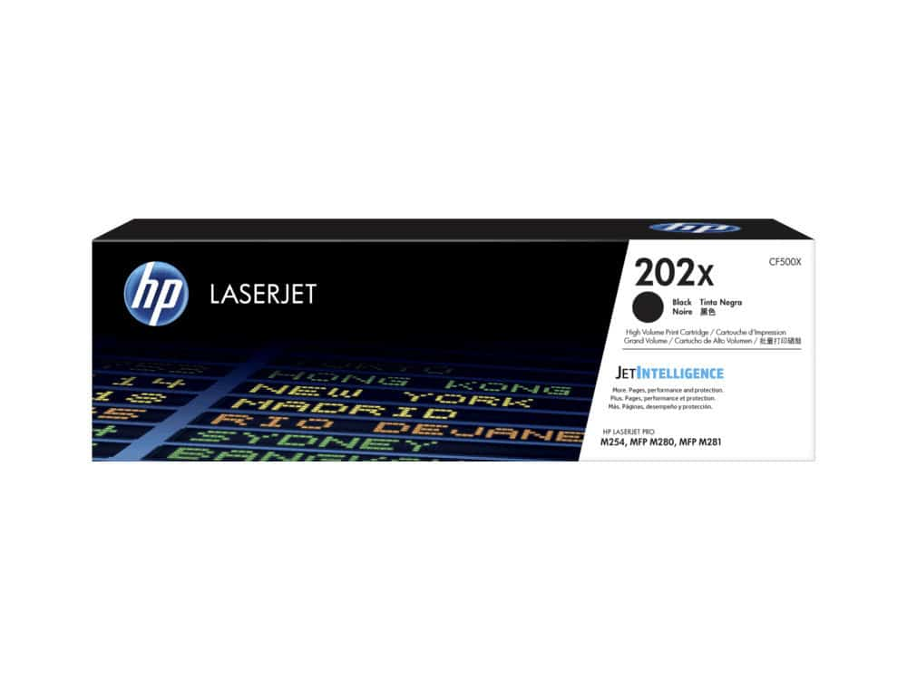 Genuine HP 202X Black Toner Cartridge