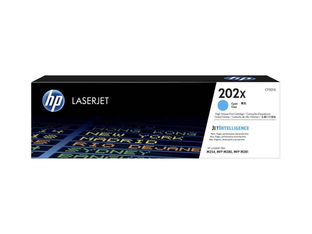 Genuine HP 202X Cyan Toner Cartridge