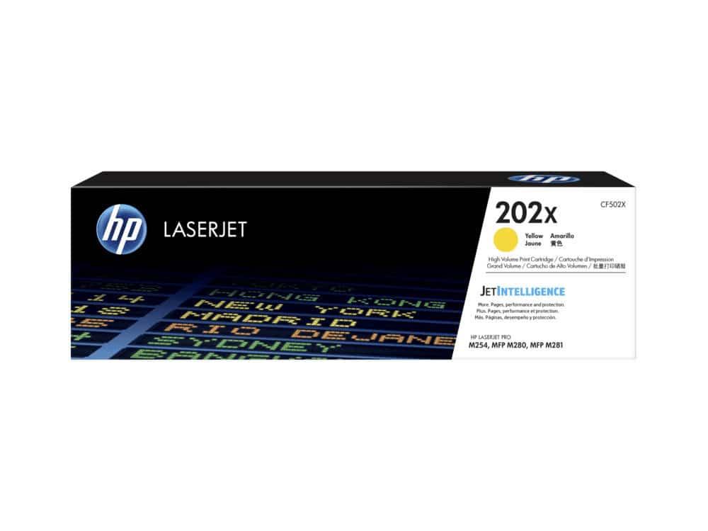 Genuine HP 202X Yellow Toner Cartridge