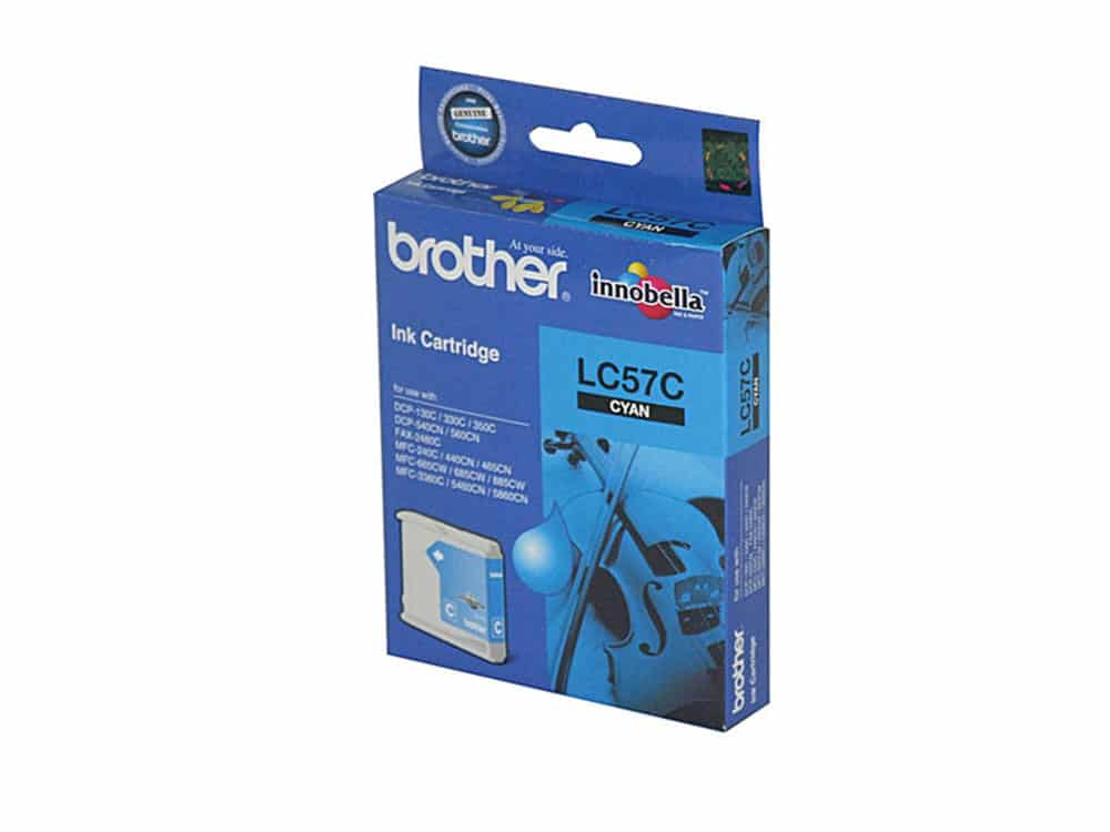 Genuine Brother Ink LC57 Cyan