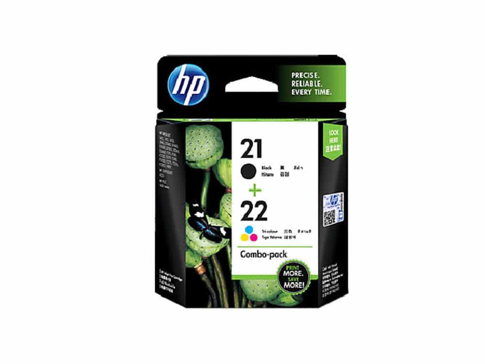 Genuine HP21 & 22 2pk Ink