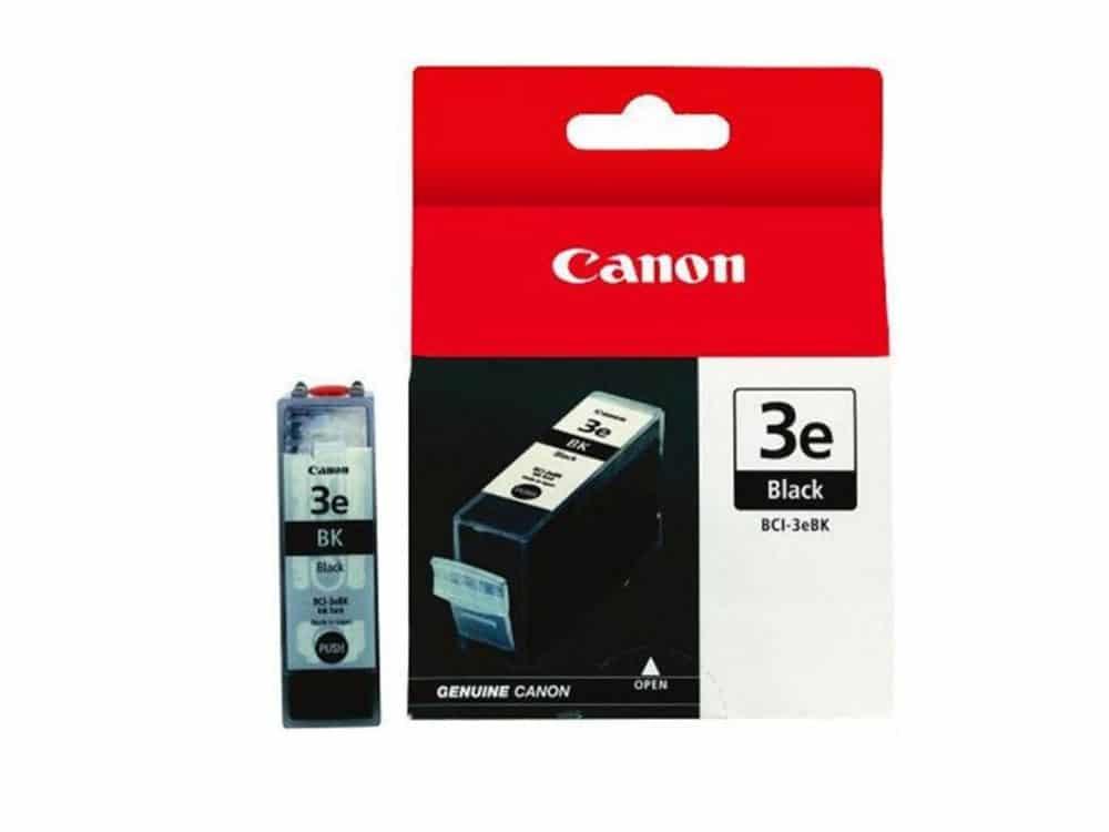Genuine Canon BCI3E Black Ink