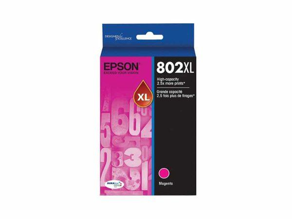 Genuine Epson 802XL Magenta Ink