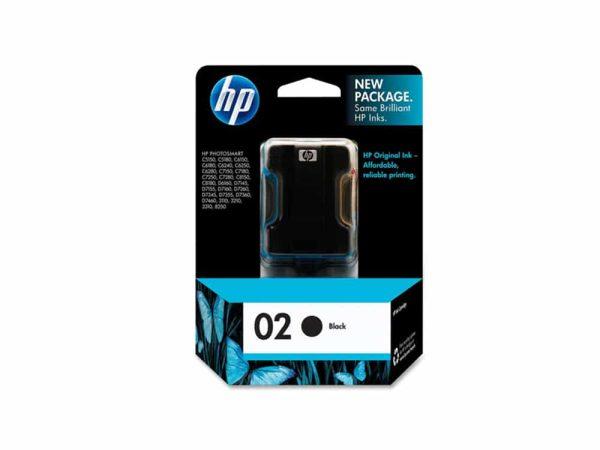 Genuine HP 02 Black Ink
