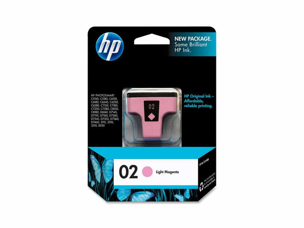 Genuine HP 02 Light Magenta Ink