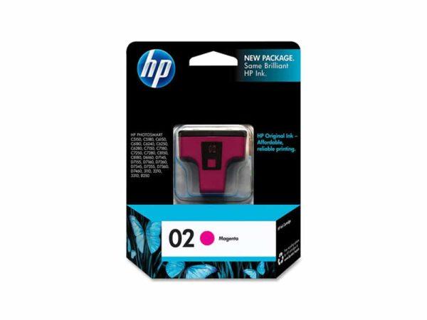 Genuine HP 02 Magenta Ink