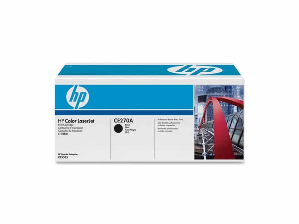 Genuine HP CE270A Black Toner