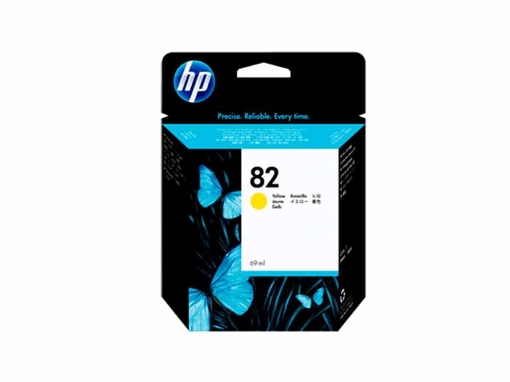 Genuine HP No.82 Ink Cartridge - Yellow- C4913A