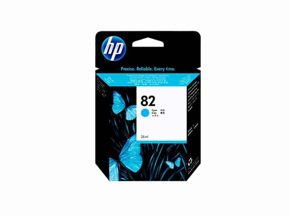 Genuine HP No.82 Ink Cartridge - Cyan- C4911A