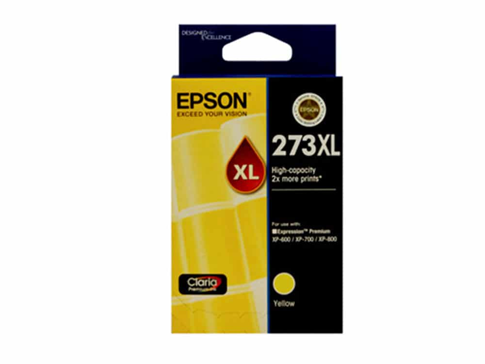 Genuine Epson 273XLYellow Hi-Yield Ink Cartridge