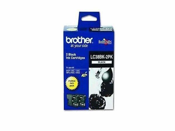 Genuine Brother  LC38 2pk Black