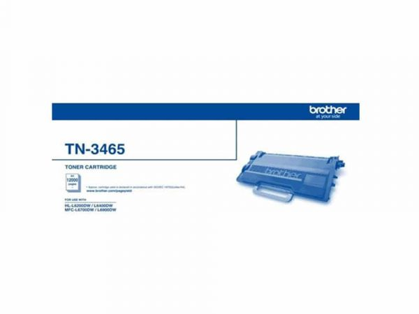 Genuine Brother TN3465 Black Toner