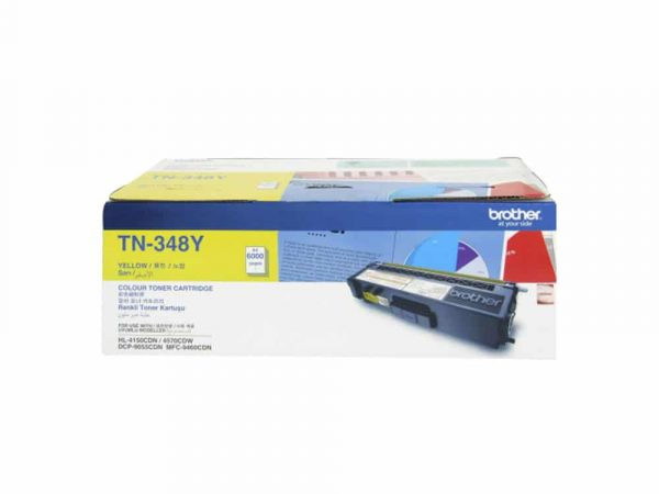Genuine Brother TN348 Yellow Toner