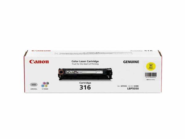 Genuine Canon CART316 Yellow Toner