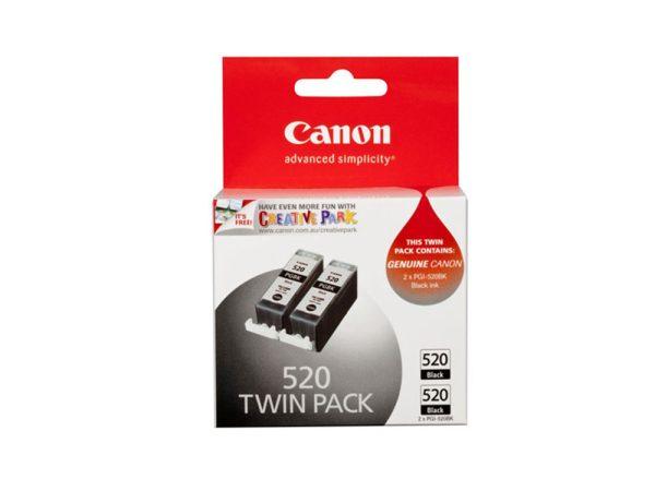 Genuine Canon PGI520 Twin Pack Black